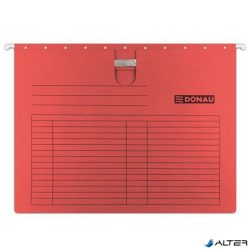 Függőmappa, gyorsfűzős, karton, A4, DONAU, piros