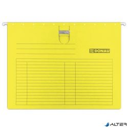 Függőmappa, gyorsfűzős, karton, A4, DONAU, sárga