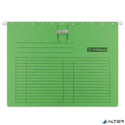 Függőmappa, gyorsfűzős, karton, A4, DONAU, zöld
