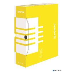 Archiváló doboz, A4, 100 mm, karton, DONAU, citromsárga