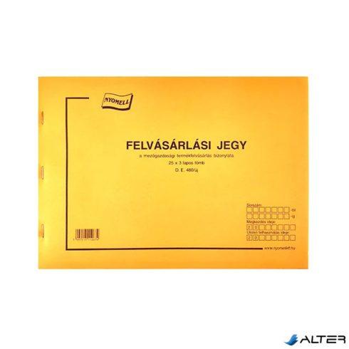 FELVÁSÁRLÁSI JEGY A/4 25X3