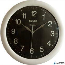 "Falióra, 28cm, SECCO ""Sweep Second"", ezüst/fekete"