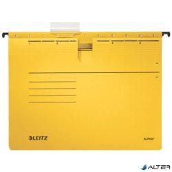 """Függőmappa, gyorsfűzős, karton, A4, LEITZ """"Alpha"""", sárga"""