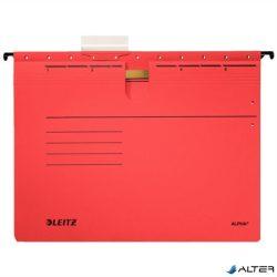 """Függőmappa, gyorsfűzős, karton, A4, LEITZ """"Alpha"""", piros"""