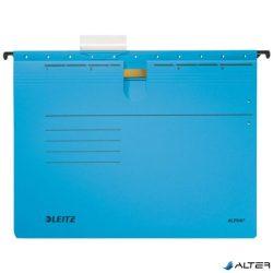"""Függőmappa, gyorsfűzős, karton, A4, LEITZ """"Alpha"""", kék"""