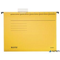 """Függőmappa, karton, A4, LEITZ """"Alpha Standard"""", sárga"""