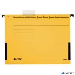"""Függőmappa, oldalvédelemmel, karton, A4, LEITZ """"Alpha"""", sárga"""