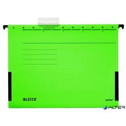 """Függőmappa, oldalvédelemmel, karton, A4, LEITZ """"Alpha"""", zöld"""