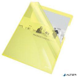 """Genotherm, """"L"""", A4, 150 mikron, víztiszta felület, ESSELTE """"Luxus"""", sárga"""