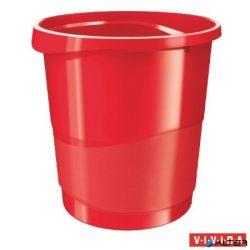 """Papírkosár, 14 liter, ESSELTE """"Europost"""", Vivida piros"""