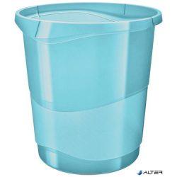 """Papírkosár, 14 liter, ESSELTE """"Colour' Ice"""", áttetsző kék"""