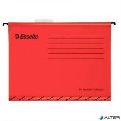 """Függőmappa, újrahasznosított karton, A4, ESSELTE """"Classic"""", piros"""