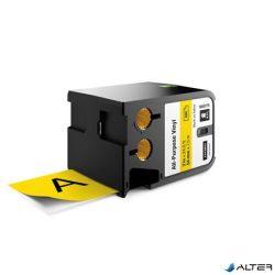 """Feliratozógép szalag, vinyl, 54 mm x 7,5 m, DYMO, """"XTL"""", fekete-sárga"""