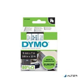 """Feliratozógép szalag, 9 mm x 7 m, DYMO """"D1"""", fehér-kék"""
