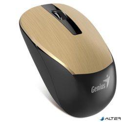 """Egér, vezeték nélküli, optikai, normál méret, GENIUS """"NX-7015"""" arany"""