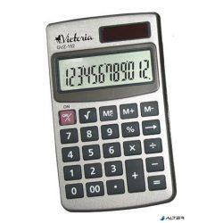 """Zsebszámológép, 12 számjegy, fém ház, VICTORIA """"GVZ-152"""""""