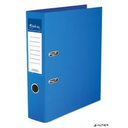 """Iratrendező, 75 mm, A4, PP/PP, élvédő sínnel, VICTORIA, """"Premium"""", kék"""