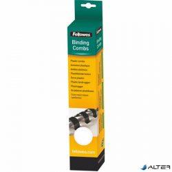 Spirál, műanyag, 12 mm, 56-80 lap, FELLOWES, 25 db, fehér