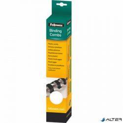Spirál, műanyag, 14 mm, 81-100 lap, FELLOWES, 25 db, fehér