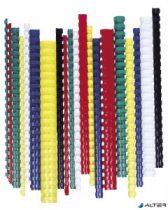 Spirál, műanyag, 12 mm, 56-80 lap, FELLOWES, 100 db, piros