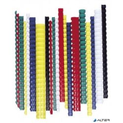 Spirál, műanyag, 38 mm, 281-340 lap, FELLOWES, 50 db, fehér