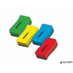 Mágneses táblatörlő szivacs, KORES, vegyes színek