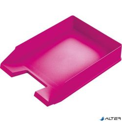 """Irattálca, műanyag, HELIT """"Economy"""", rózsaszín"""