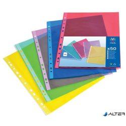 """Genotherm, lefűzhető, A4, 50 mikron, víztiszta, VIQUEL """"Trend"""", vegyes színek"""