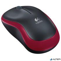 """Egér, vezeték nélküli, optikai, közepes méret, USB, LOGITECH """"M185"""", piros"""