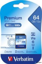 Memóriakártya, SDXC, 64GB, Class 10, VERBATIM