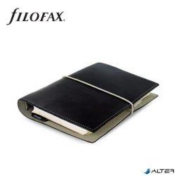 """Kalendárium, gyűrűs, betétlapokkal, personal méret, FILOFAX, """"Domino"""", fekete"""