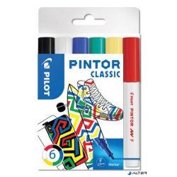 """Dekormarker készlet, 1 mm, PILOT """"Pintor F"""" 6 különböző klasszikus szín"""