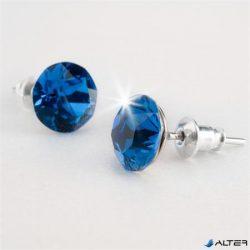 Fülbevaló, bahama kék SWAROVSKI® kristállyal, 8mm, ART CRYSTELLA®