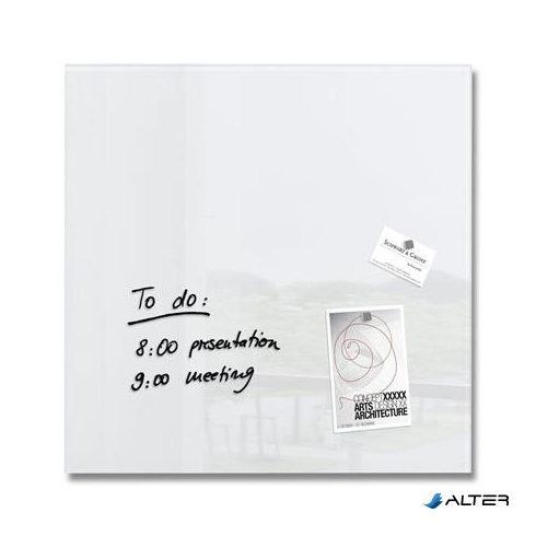 """Mágneses üvegtábla, 48x48 cm, SIGEL """"Artverum® """", fehér"""