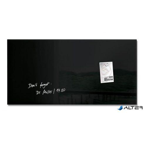 """Mágneses üvegtábla, 46x91 cm, SIGEL """"Artverum® """", fekete"""