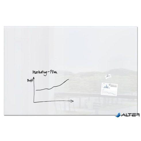 """Mágneses üvegtábla, 120x180 cm, SIGEL """"Artverum® """", fehér"""