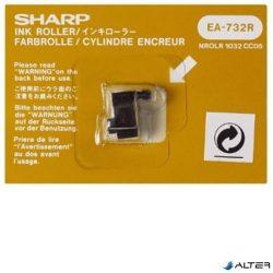 Festékhenger számológépekhez, EL1611L/P/E, EL1801L típusokhoz, SHARP, fekete