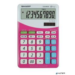"""Számológép, asztali, 10 számjegy, SHARP """"EL-M332"""", pink"""