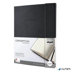 """Jegyzetfüzet, exkluzív, A4+, kockás, 194 oldal, mágneses záródású, keményfedeles, SIGEL """"Conceptum"""", fekete"""