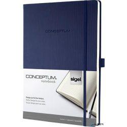 """Jegyzetfüzet, exkluzív, A4, kockás, 194 oldal, keményfedeles, SIGEL """"Conceptum"""", éjkék"""