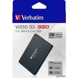 "SSD (belső memória), 256GB, SATA 3, 460/560MB/s, VERBATIM ""Vi550"""