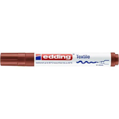 """Textilmarker, 2-3 mm, kúpos, EDDING """"4500"""", barna"""