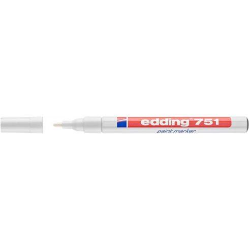 "Lakkmarker, 1-2 mm, EDDING ""751"", fehér"