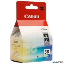CL-38 Tintapatron Pixma iP1800, 2500, MP210 nyomtatókhoz, CANON színes, 3*3ml