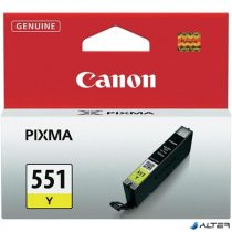 CLI-551Y Tintapatron Pixma iP7250, MG5450 nyomtatókhoz, CANON sárga, 7ml