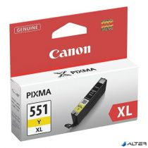 CLI-551YXL Tintapatron Pixma iP7250, MG5450, MG6350 nyomtatókhoz, CANON sárga, 11ml