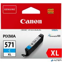 CLI-571CXL Tintapatron Pixma MG5750, 6850,7750 nyomtatókhoz, CANON kék, 11 ml