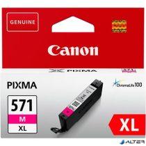 CLI-571MXL Tintapatron Pixma MG5750, 6850,7750 nyomtatókhoz, CANON vörös, 11 ml