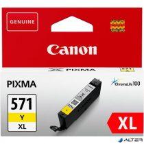CLI-571YXL Tintapatron Pixma MG5750, 6850,7750 nyomtatókhoz, CANON sárga, 11 ml