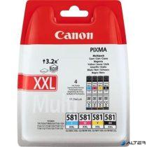 CLI-581MPXXL Multipack Pixma TS7550, 8150, 9150 nyomtatókhoz, CANON, 4 szín, 46,8ml